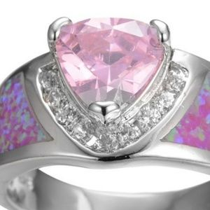 Sim pink sapphire and faux opal
